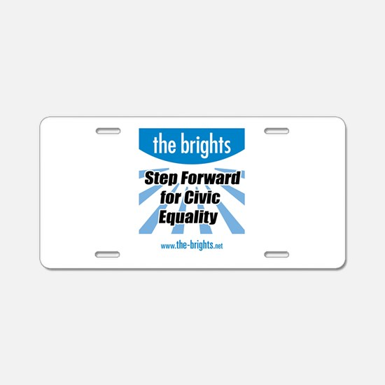 Step Forward Aluminum License Plate