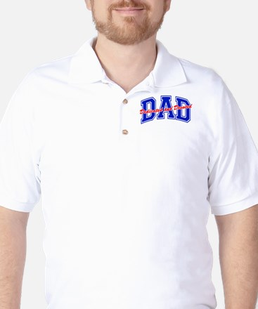 Dedicted Devoted Christian Fathers Day Golf Shirt
