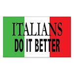 Italians Do It Better Sticker (Rect)