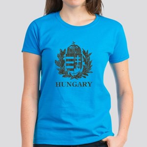 Vintage Hungary Coat Of Arms Women's Dark T-Shirt