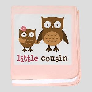 Little Cousin - Mod Owl baby blanket