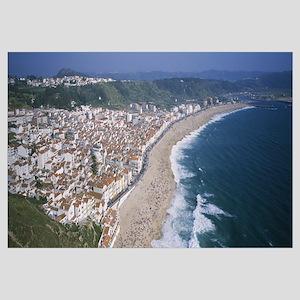 High angle view of a town, Nazare, Leiria, Portuga