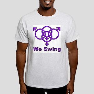 """Swinger Symbol-""""We Swing"""" Light T-Shirt"""