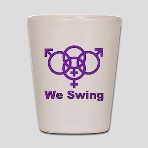 """Swinger Symbol-""""We Swing"""" Shot Glass"""