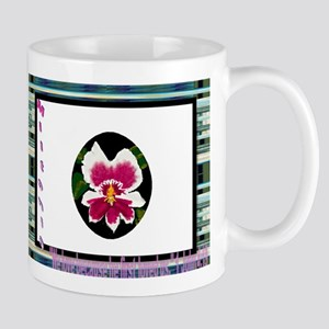 Tropical Red Sand Mug Miltonia an Exotic Orchid