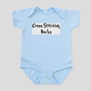 Cross Stitching Rocks Infant Creeper