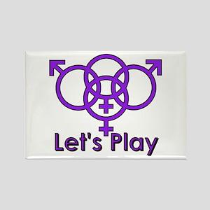 "Swinger Symbol ""Let's Play"" Rectangle Ma"