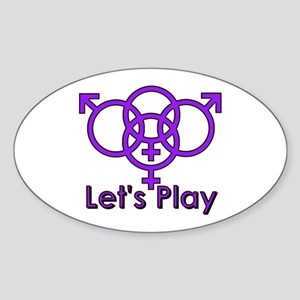"Swinger Symbol ""Let's Play"" Sticker (Ova"