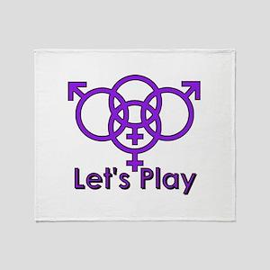 "Swinger Symbol ""Let's Play"" Throw Blanket"