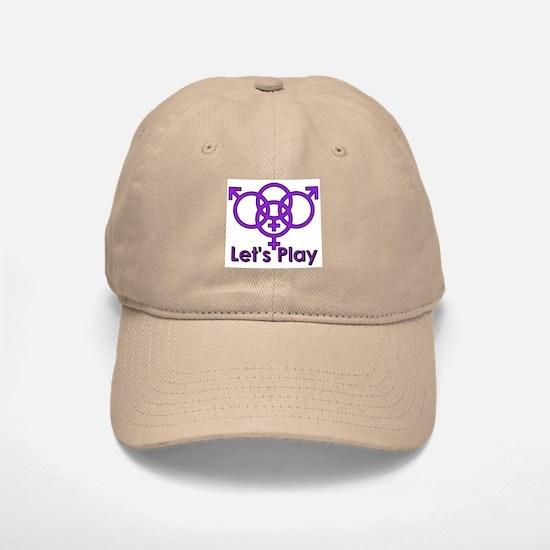 """Swinger Symbol """"Let's Play"""" Baseball Baseball Cap"""