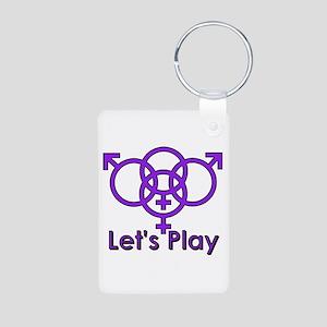 """Swinger Symbol """"Let's Play"""" Aluminum Pho"""