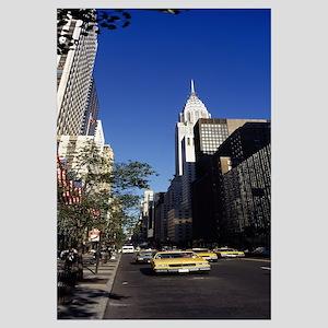 Buildings along a road, Chrysler Building, Manhatt