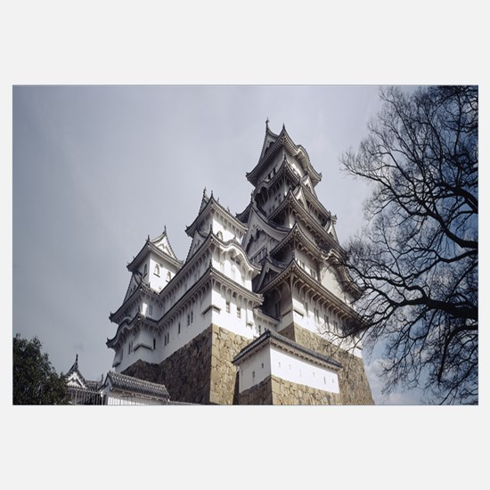 Low angle view of a castle, Himeji-Jo Castle, Hime