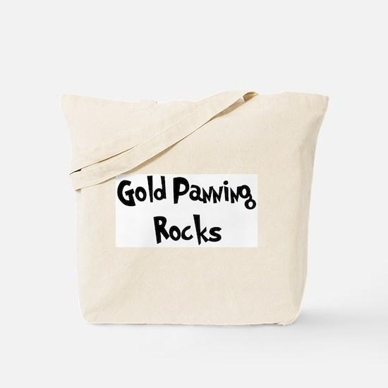 Gold Panning Rocks Tote Bag