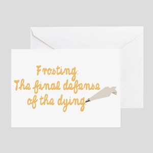What a delicious defense. Greeting Card