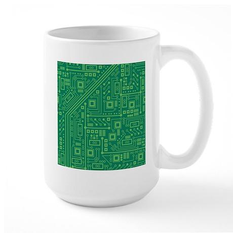 Green Circuit Board Large Mug