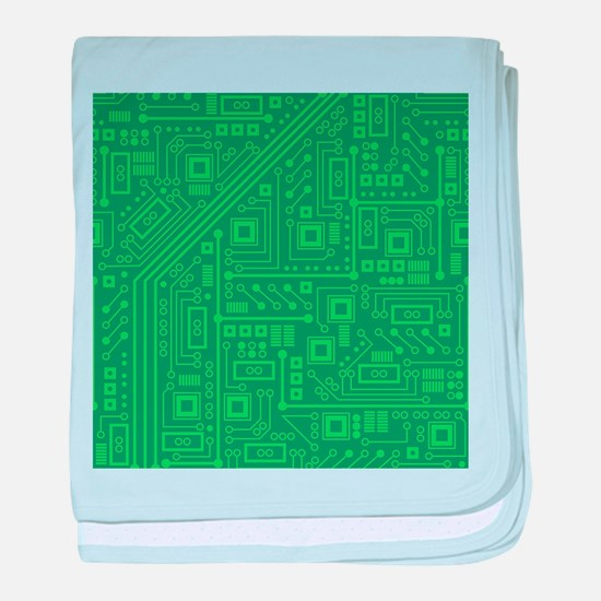 Green Circuit Board baby blanket
