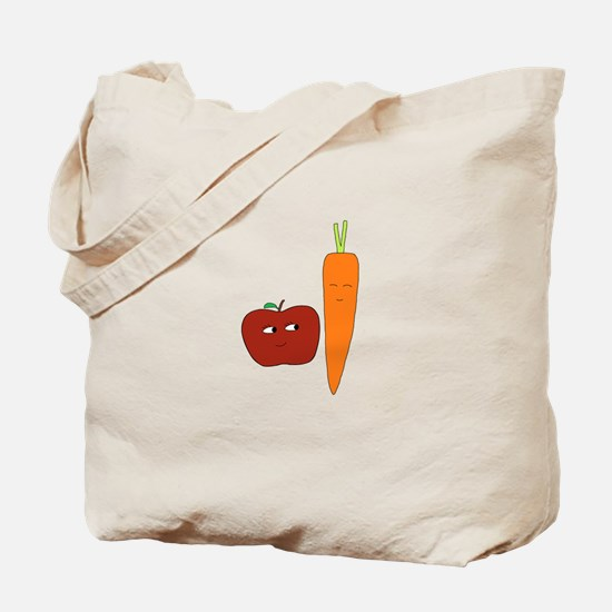 Apple-Carrot Duo Tote Bag