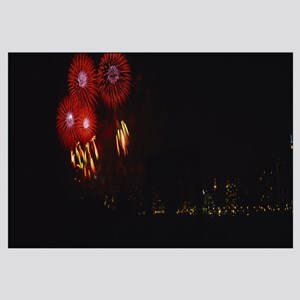 Low angle view of fireworks displayed in the sky,