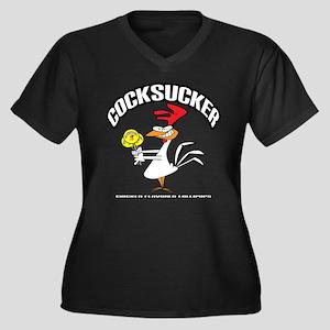 Cocksucker Women's Plus Size V-Neck Dark T-Shirt