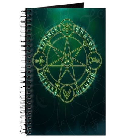 Spell Symbols Book of Shadows Journal ~ Green