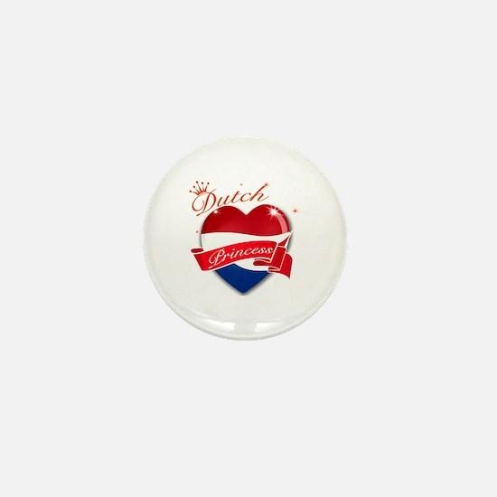 Dutch Princess Mini Button