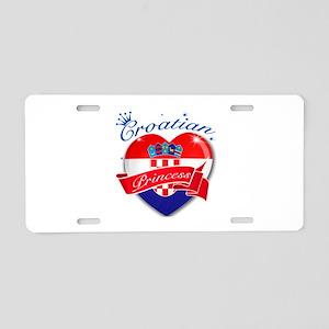 Croatian Princess Aluminum License Plate