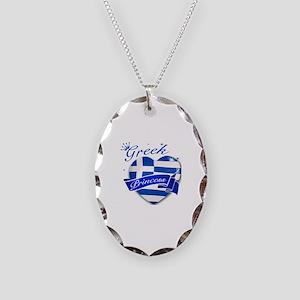 Greek Princess Necklace Oval Charm