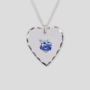 Greek Princess Necklace Heart Charm
