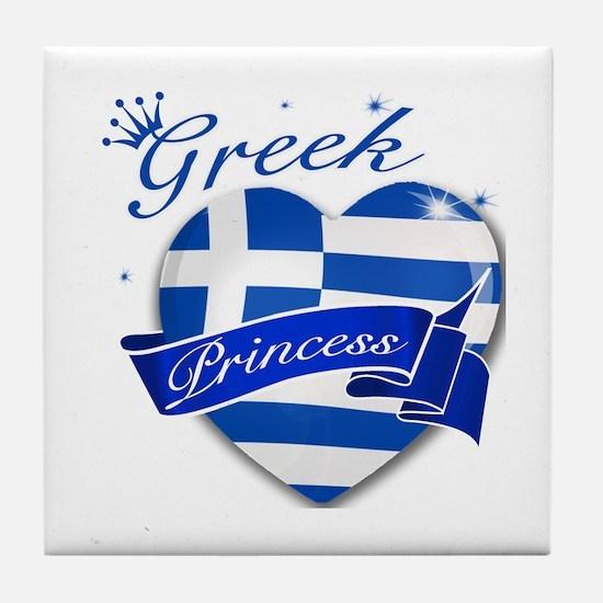 Greek Princess Tile Coaster