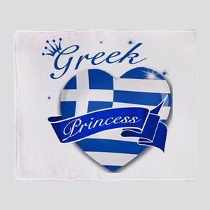 Greek Princess Throw Blanket