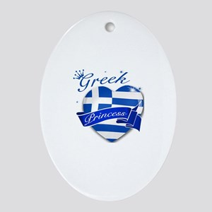 Greek Princess Ornament (Oval)