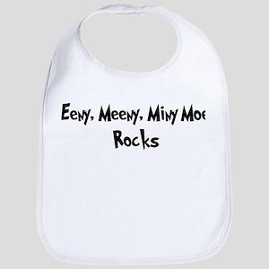 Eeny, Meeny, Miny Moe Rocks Bib