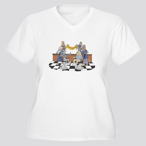 Pooch Groomers Women's Plus Size V-Neck T-Shirt