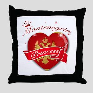 Montenegrin Princess Throw Pillow