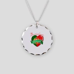 Portuguese Princess Necklace Circle Charm