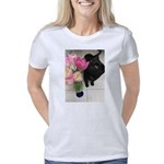 Cat with Tulips Women's Classic T-Shirt