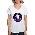 Penguin5 Women's V-Neck T-Shirt