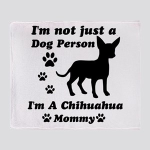 Chihuahua Mommy Throw Blanket