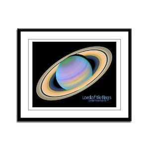 Saturn False-Color Framed Panel Print