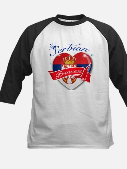 Serbian Princess Kids Baseball Jersey