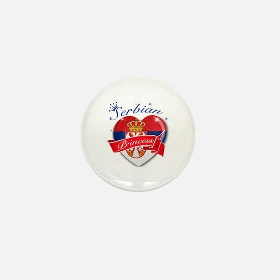 Serbian Princess Mini Button