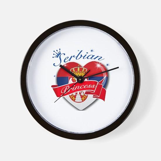 Serbian Princess Wall Clock