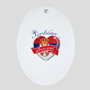 Serbian Princess Ornament (Oval)