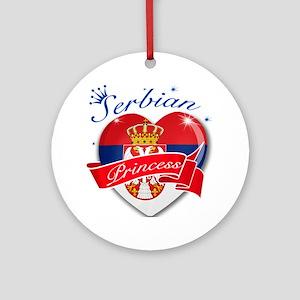 Serbian Princess Ornament (Round)