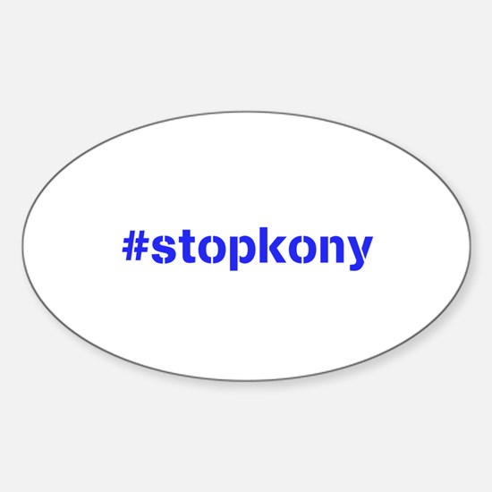 #stopkony blue Sticker (Oval)