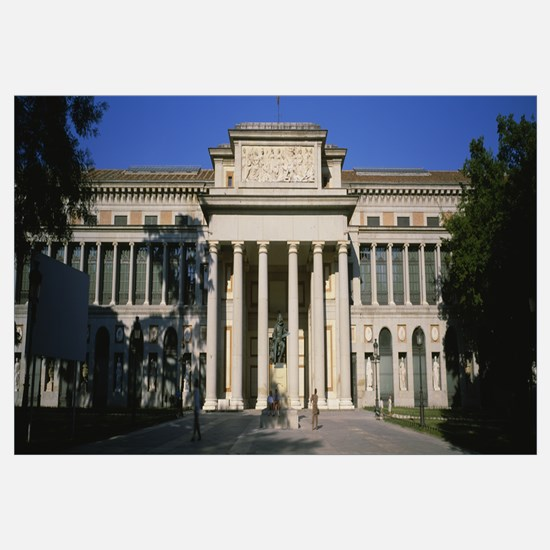 Facade of a museum, El Prado Museum, Madrid, Spain
