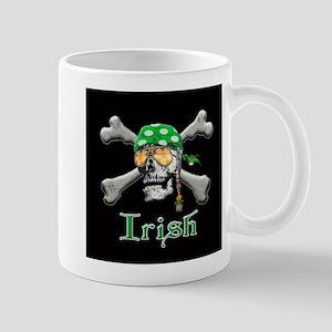 Irish Pirate Scull and Bones Mug