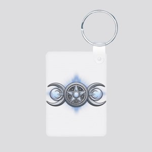 Moonstone Triple Goddess Aluminum Photo Keychain