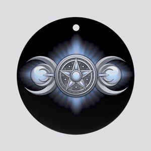 Moonstone Triple Goddess Ornament (Round)